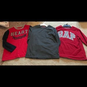 Baby gap lot boy size 5 Heartbreaker 3 long sleeve